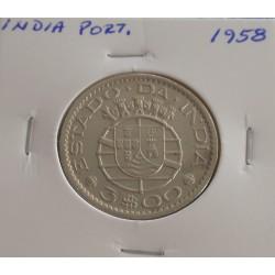 India - 3 Escudos - 1958