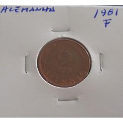 Alemanha - 2 Pfennig - 1981 F
