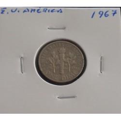 E. U. América - 1 Dime - 1967