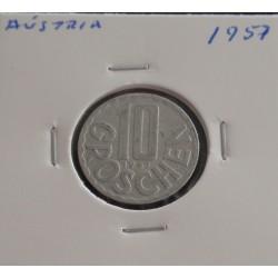 Aústria - 10 Groschen - 1957