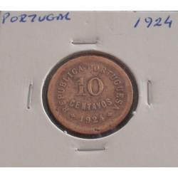 Portugal - 10 Centavos - 1924
