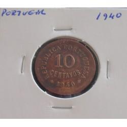 Portugal - 10 Centavos - 1940