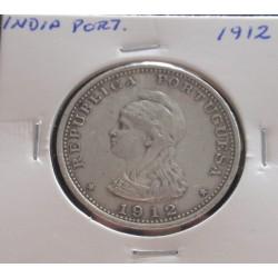 India - 1 Rupia - 1912 - Prata