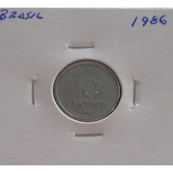 Brasil - 10 Centavos - 1986