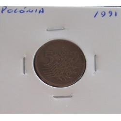 Polónia - 5 Groszy - 1991