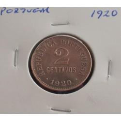 Portugal - 2 Centavos - 1920