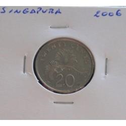 Singapura - 20 Cents - 2006