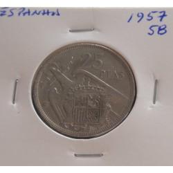 Espanha - 25 Pesetas - 1957-58