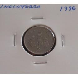 Inglaterra - 5 Pence - 1996