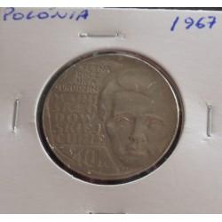 Polónia - 10 Zlotych - 1967