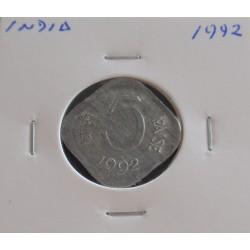 India - 5 Paise - 1992
