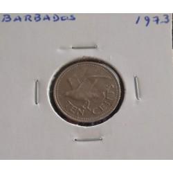 Barbados - 10 Cents - 1973