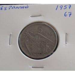 Espanha - 5 Pesetas - 1957-67