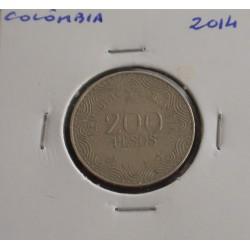 Colômbia - 200 Pesos - 2014