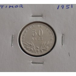 Timor - 50 Avos - 1951 - Prata