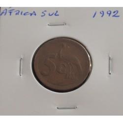 África do Sul - 5 Cents - 1992