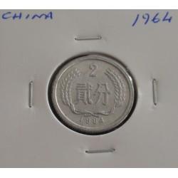 China - 2 Fen - 1964