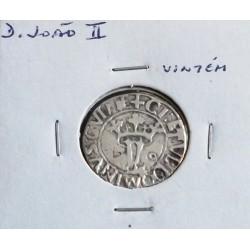 D. João II - Vintém - N/D (1481-1495 ) - A. G. 13.13 - Prata