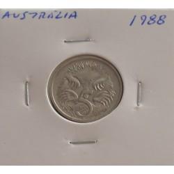 Austrália - 5 Cents - 1988