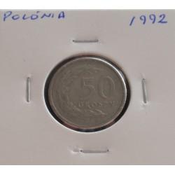 Polónia - 50 Groszy - 1992