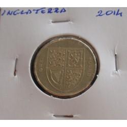 Inglaterra - 1 Pound - 2014