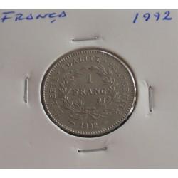 França - 1 Franc - 1992