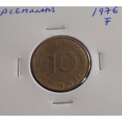 Alemanha - 10 Pfennig - 1976 F
