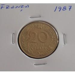 França - 20 Centimes - 1987