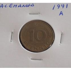 Alemanha - 10 Pfennig - 1991 A