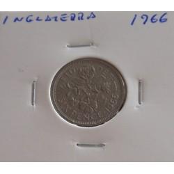 Inglaterra - 6 Pence - 1966