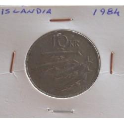Islândia - 10 Kronur - 1984