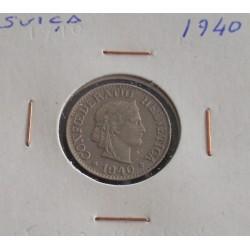 Suiça - 10 Rapen - 1940