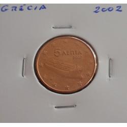 Grécia - 5 Centimos - 2002