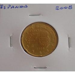 Espanha - 20 Centimos - 2008