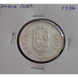 India - 1/2 Rupia - 1936 -...
