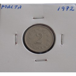 Malta - 2 Cents - 1972