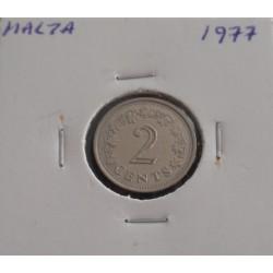 Malta - 2 Cents - 1977