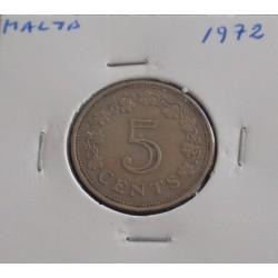 Malta - 5 Cents - 1972