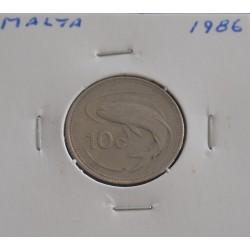 Malta - 10 Cents - 1986