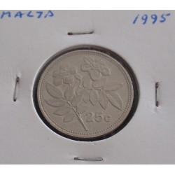 Malta - 25 Cents - 1995