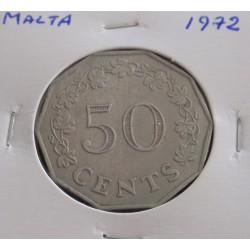 Malta - 50 Cents - 1972