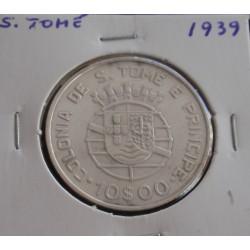 S. Tomé - 10 Escudos - 1939...