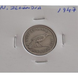 N. Zelândia - 6 Pence - 1947