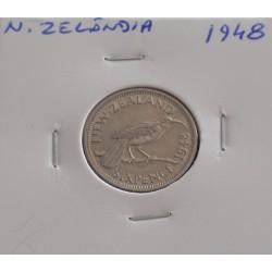 N. Zelândia - 6 Pence - 1948