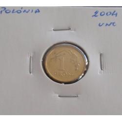 Polónia - 1 Grosz - 2004 - Unc