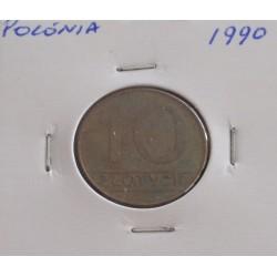 Polónia - 10 Zlotych - 1990