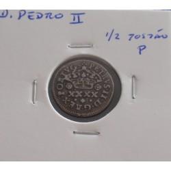 D. Pedro II - 1/2 Tostão P...