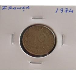 França - 10 Centimes - 1974