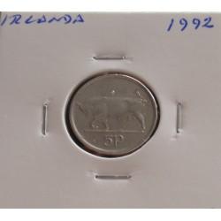Irlanda - 5 Pence - 1992