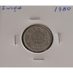 Suiça - 1/2 Franc - 1980
